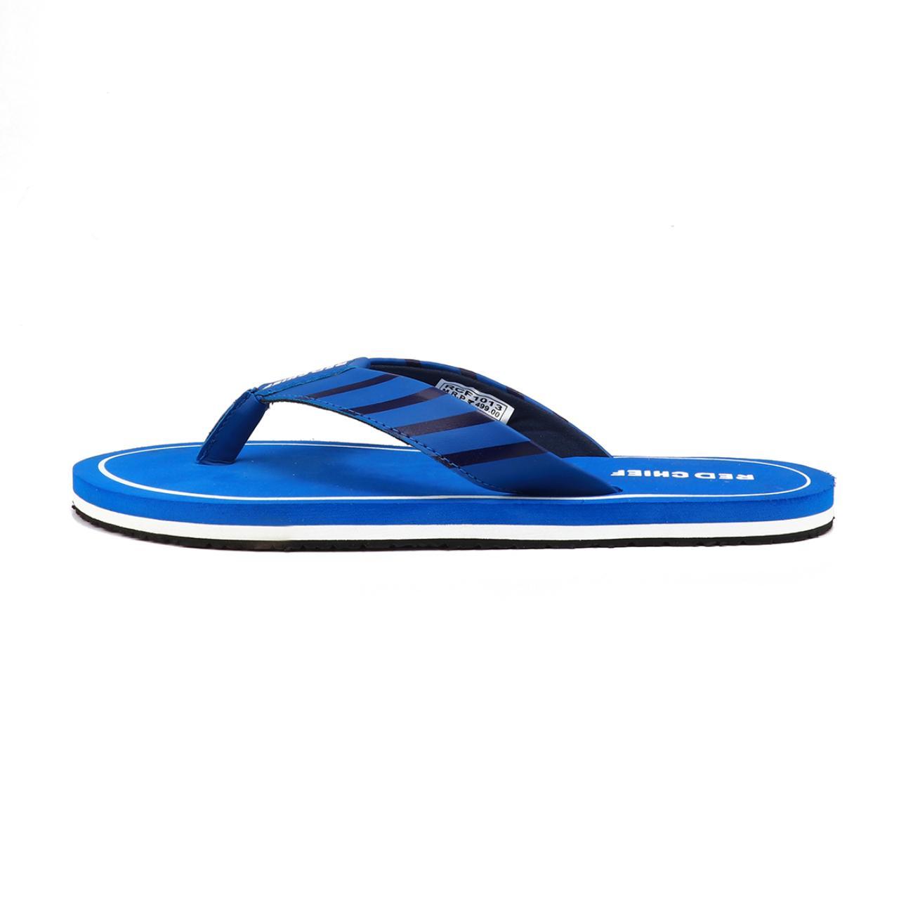 navy blue men's flip flop top view
