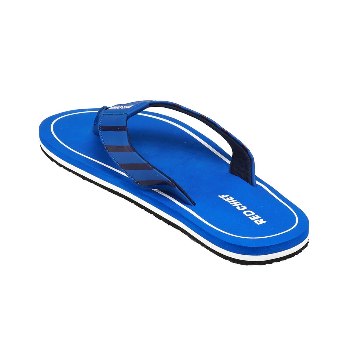 navy blue men's flip flop rubber sole