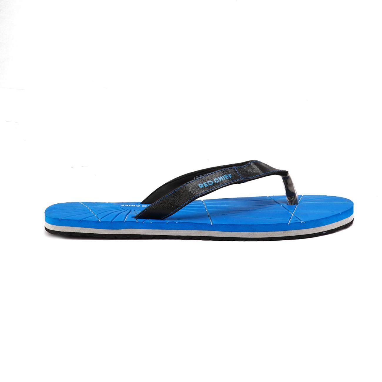 blue men's flip flop rubber sole