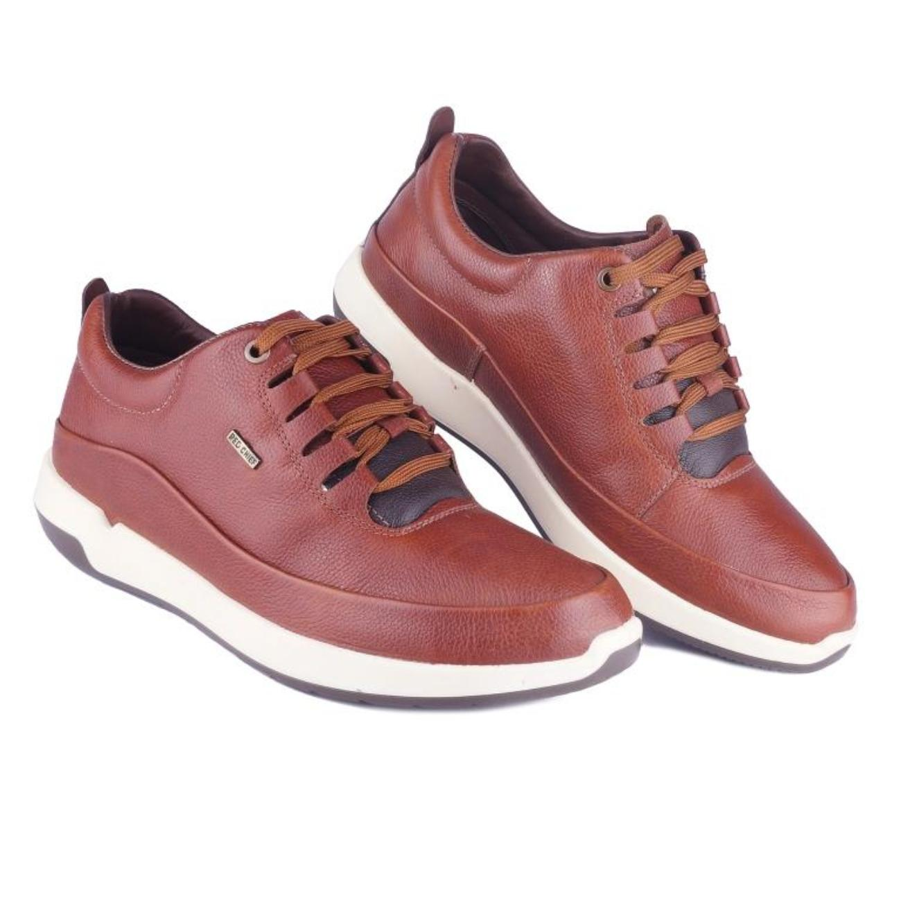 brown casual shoes top view