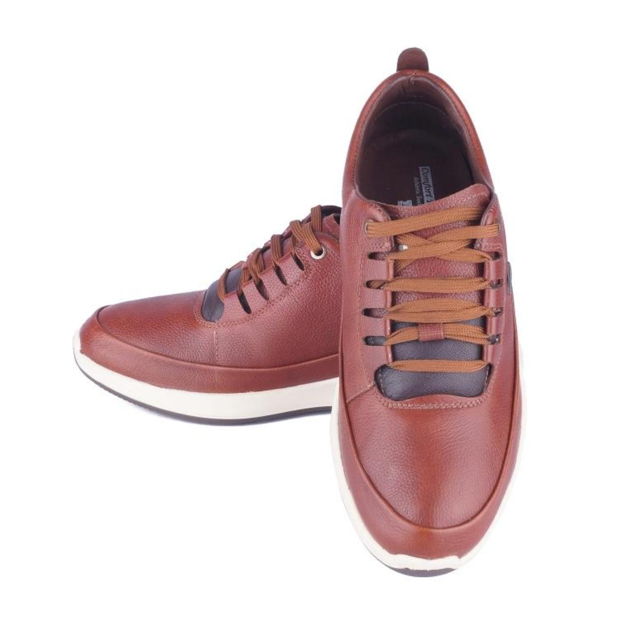 brown casual shoes rubber sole