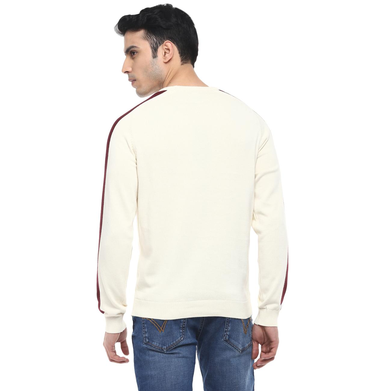 Buy Men's Off-white Casual Sweater at Red Chief
