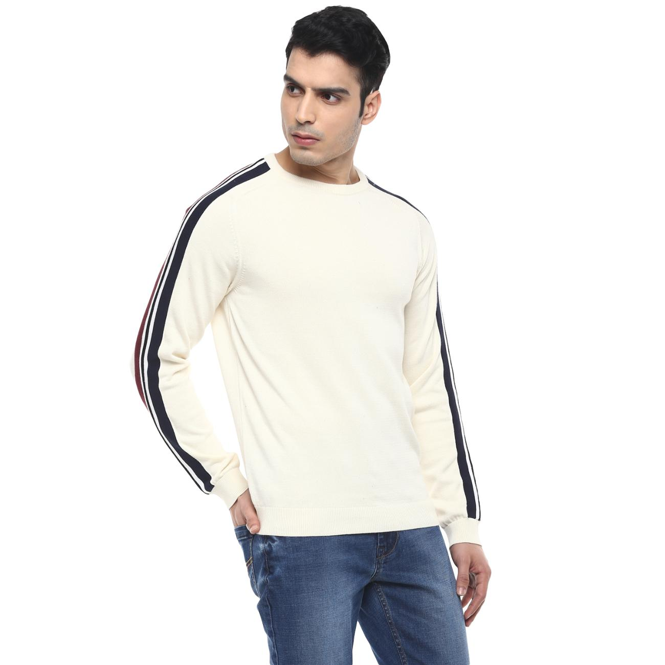 Shop Men's Off-white Casual Sweater Online