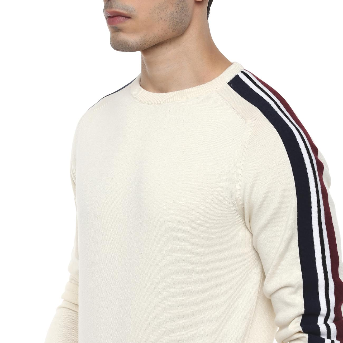 Round Neck Casual Sweater for Men Online
