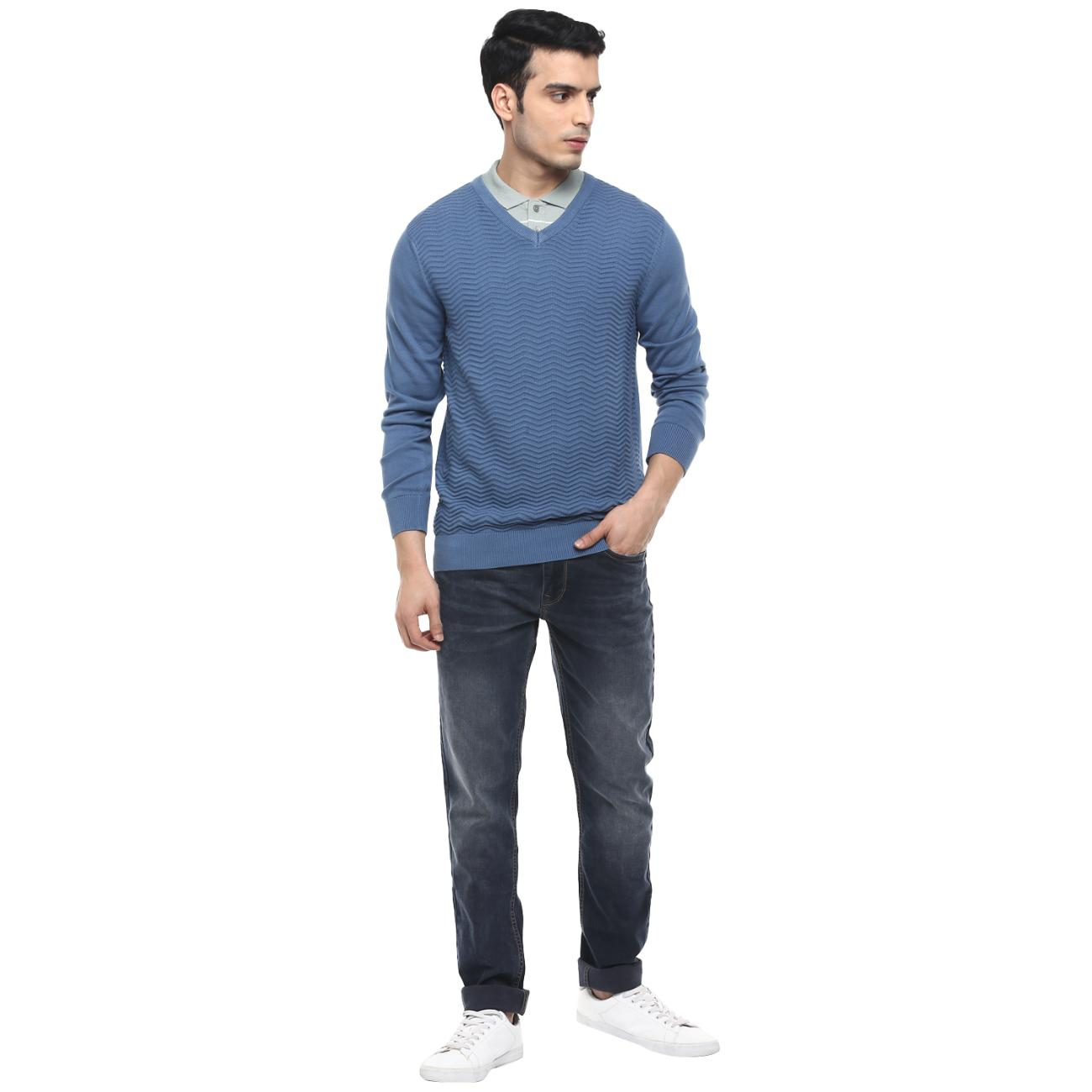 Purchase Blue Casual Sweater for Men