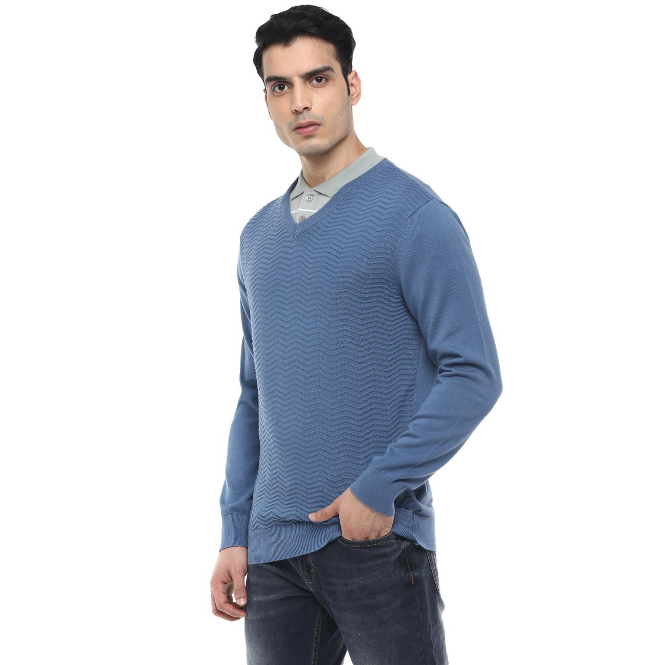 Shop Red Chief's Blue Casual Sweater
