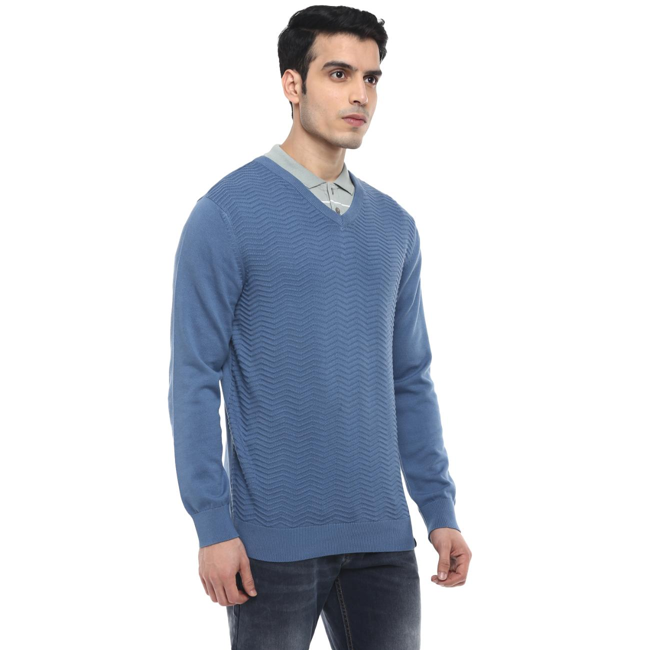 Purchase Red Chief's Blue Casual Sweater