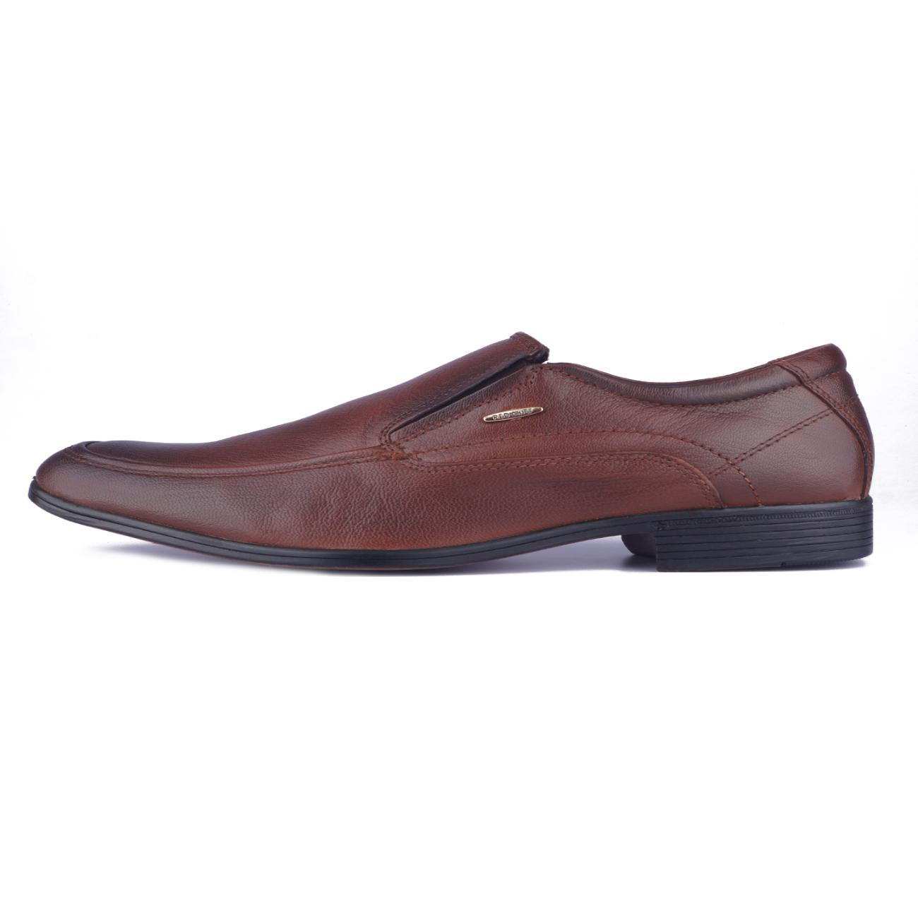 tan leather slip-on formal shoes side view_2