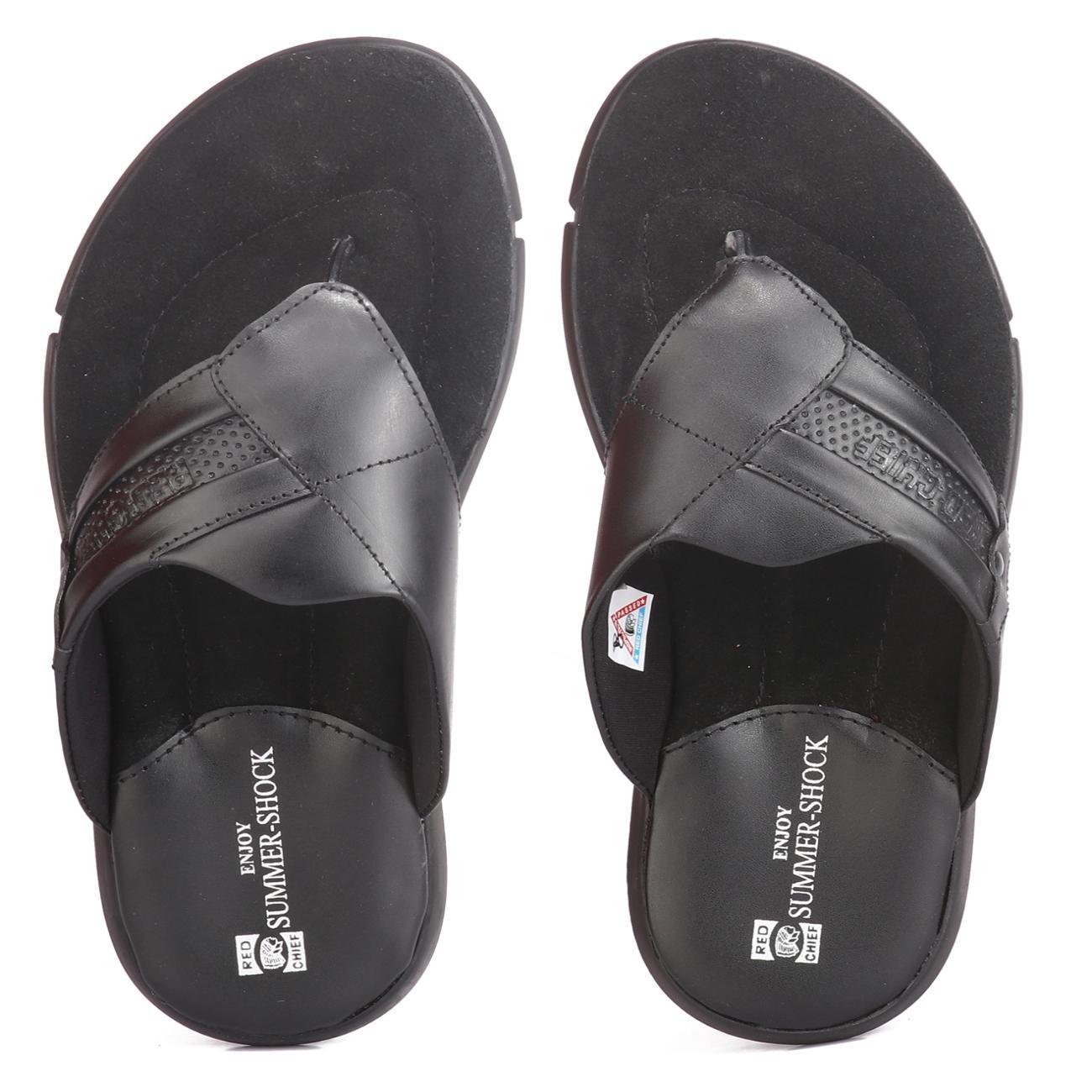 buy black slip-on slippers online