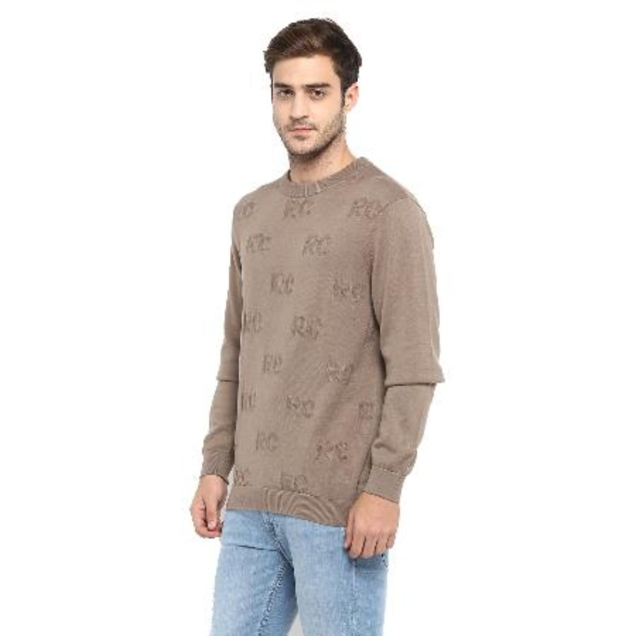 Red Chief Brown Sweater for Men
