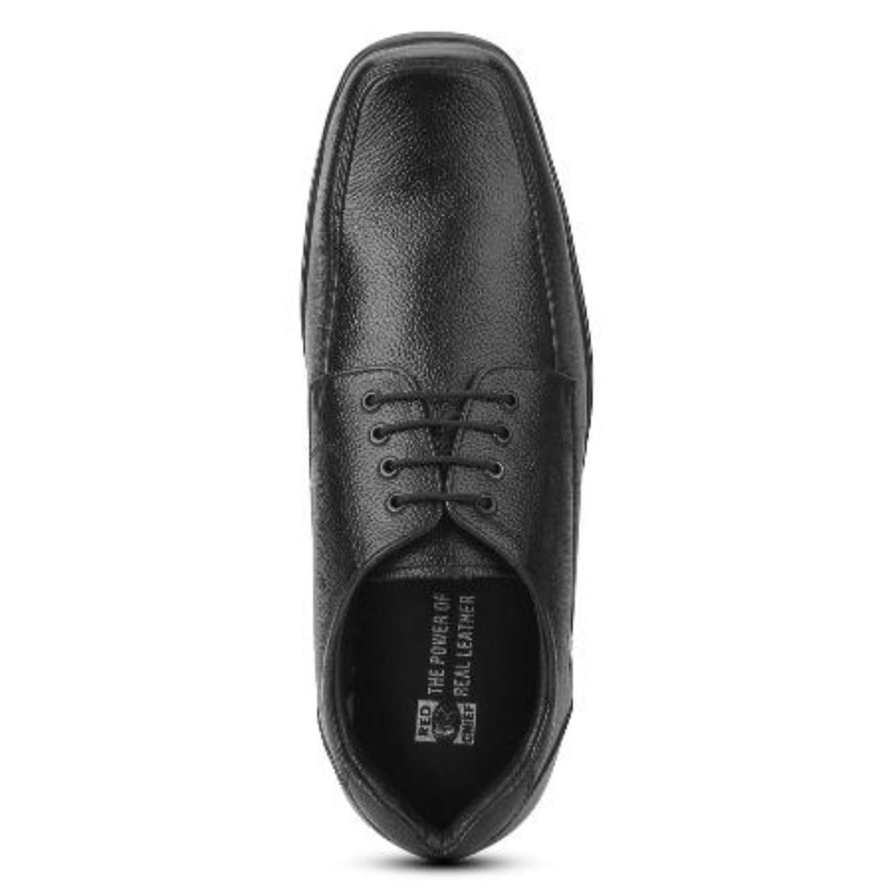 black formal shoes top view