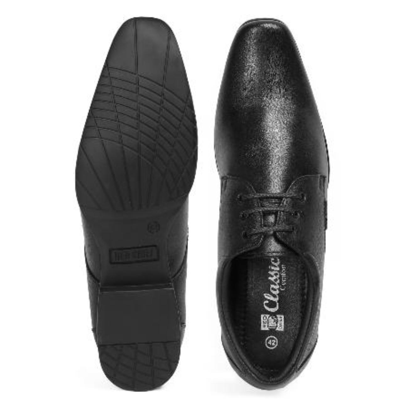 black formal shoes by red chief