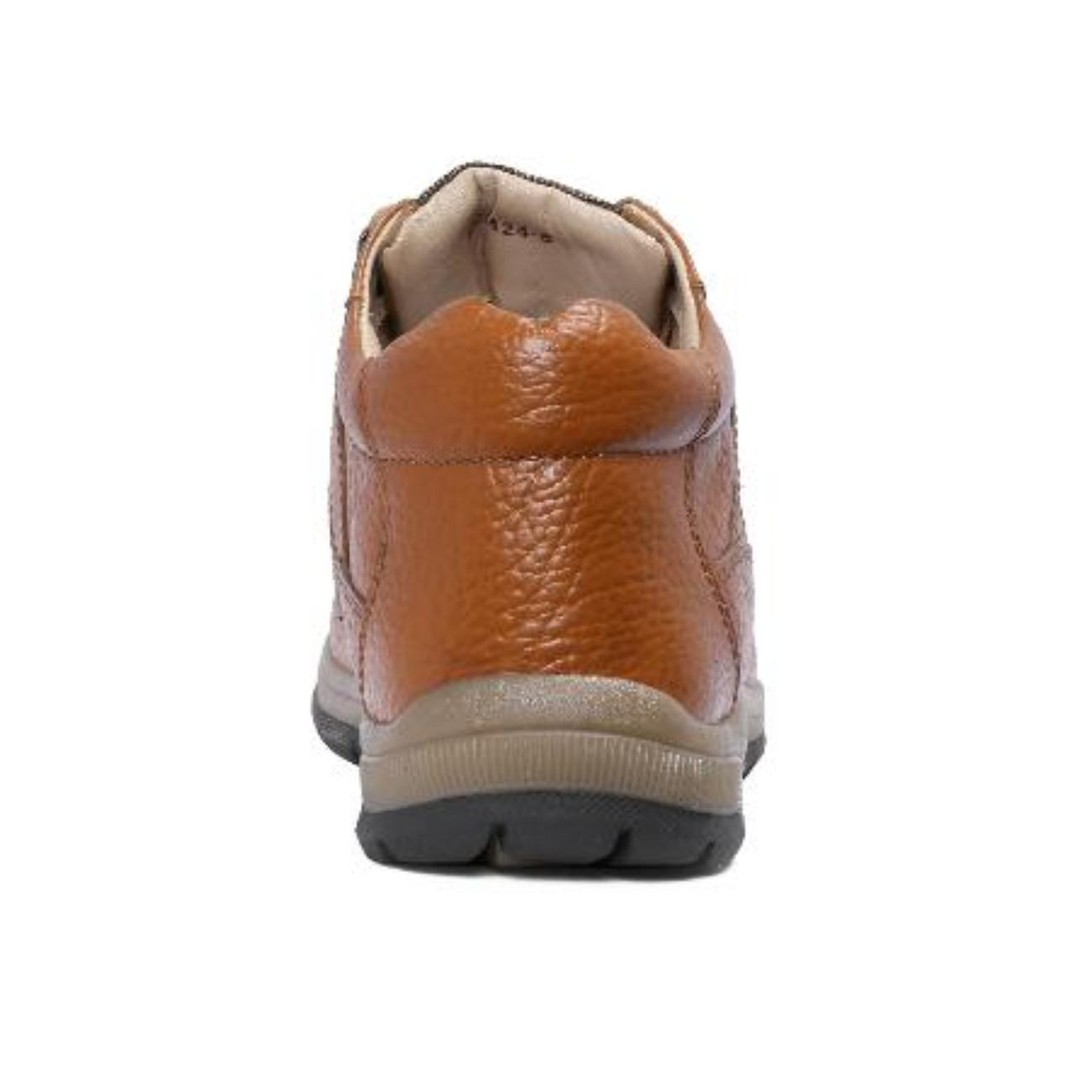 low ankle elephant tan casual leather shoes from behind