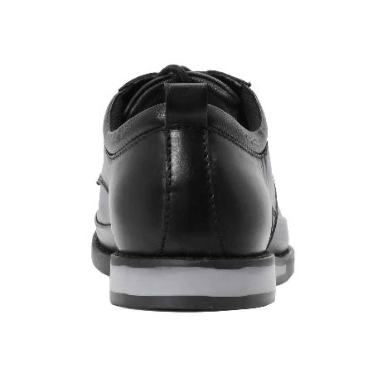 black formal shoes for men from behind